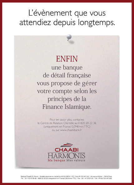 Chaabi bank annonce un financement immobilier islamique en france le journa - Banque chaabi credit islamique ...