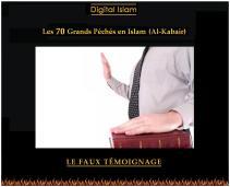 70-péchés-Islam-faux-témoignage