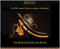 70-péchés-Islam-butin