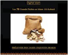 70-péchés-Islam-taxes-injustes