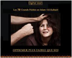 70-péchés-Islam-opprimer-faible