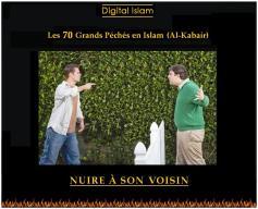 70-péchés-Islam-nuire-voisin