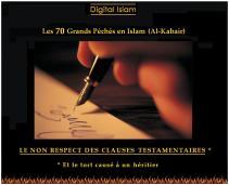 70-péchés-Islam-non-respect-testament