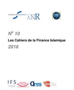 Cahiers de la finance islamique n° 10