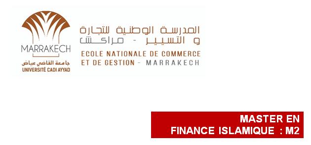 ENCG Marrakech Master Finance Islamique