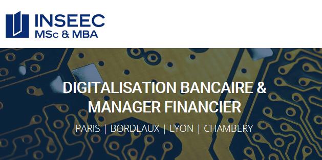 Master Digitalisation Bancaire Manager Financier INSEEC