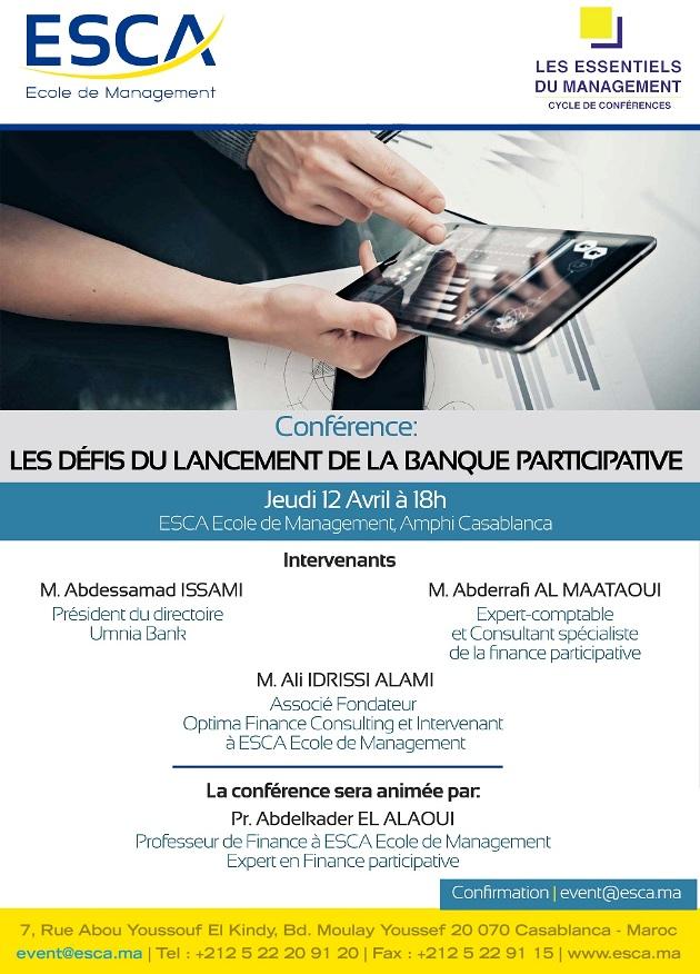 conférence banque participative esca