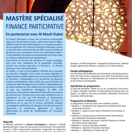 Master Finance Participative ISCAE